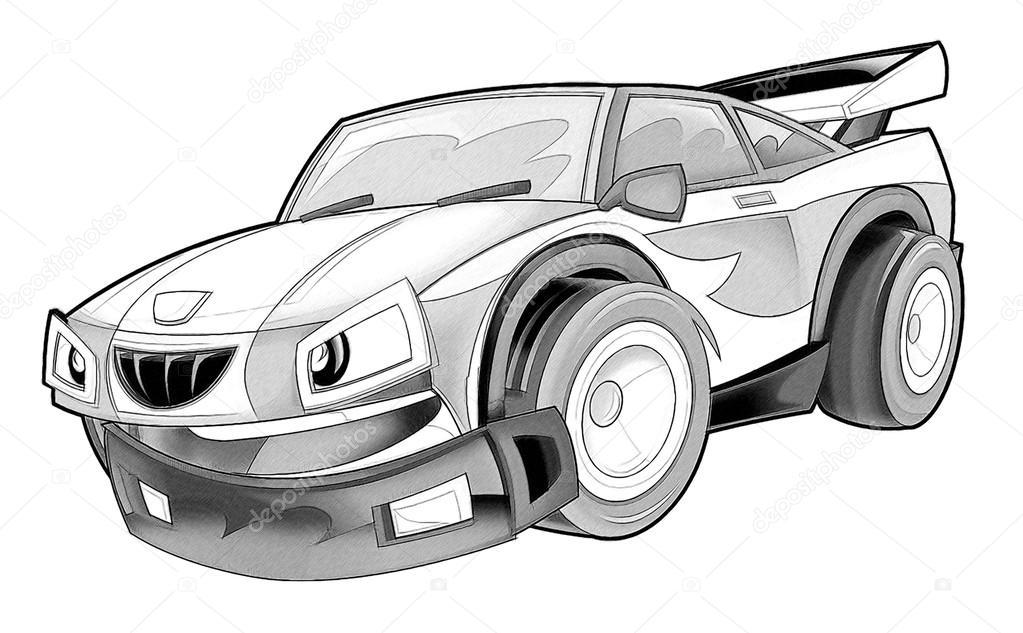 Boyama Sayfası Araba Stok Foto Illustratorhft 53736409