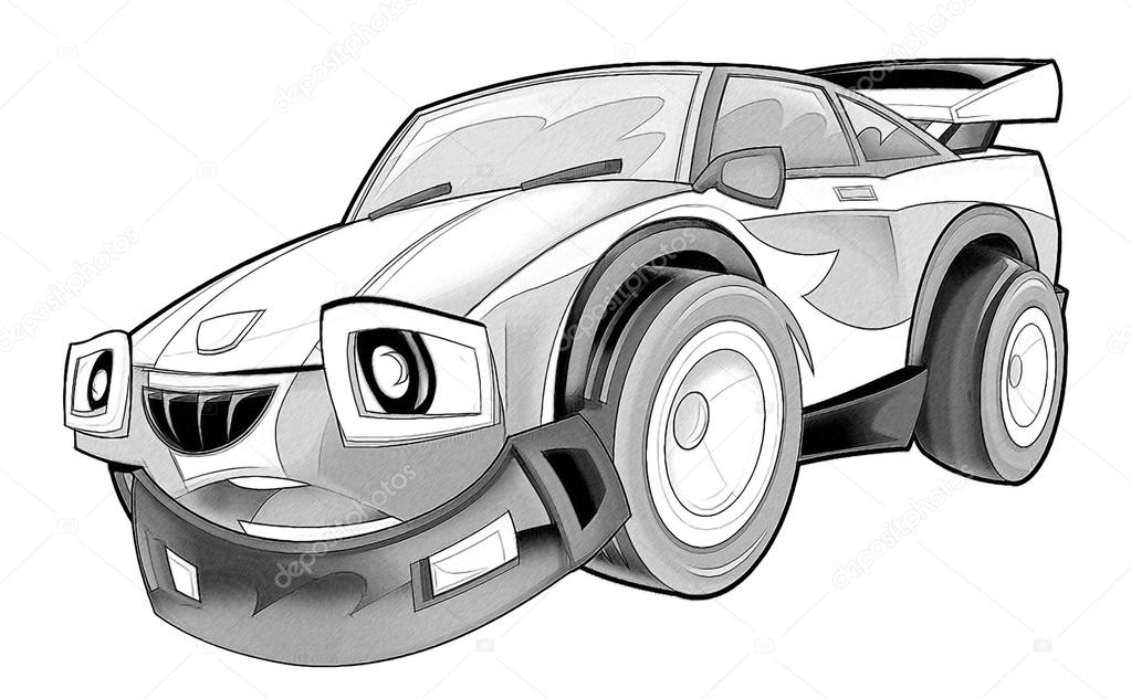Coloriage Voiture Photographie Illustrator Hft 53736431