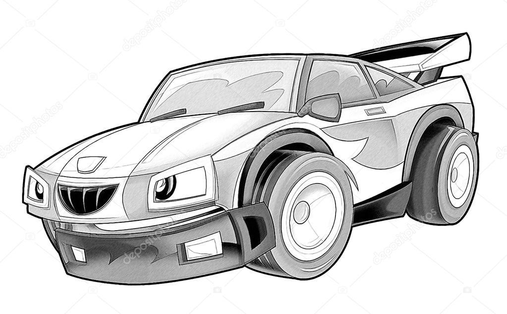 coloração página carro stock photo illustrator hft 53736447