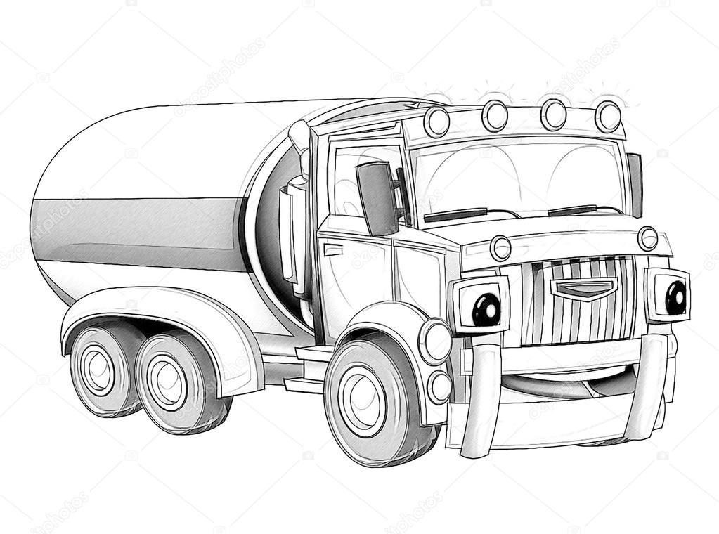 página para colorir desenhos animados caminhão fotografias de