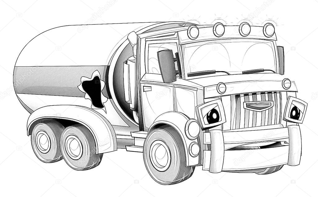 раскраска грузовые автомобили раскраски мультфильм