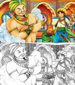 Kreslené pohádky scéna