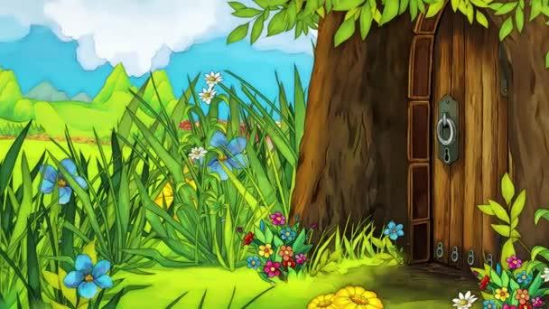 Scrolling scene for fairy tale