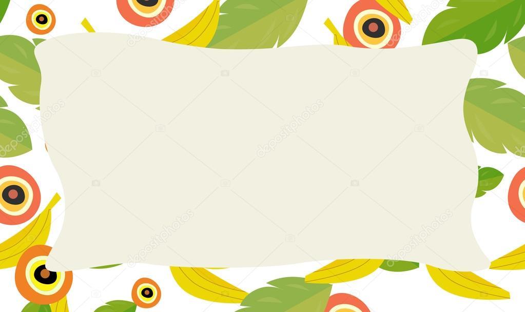 Cartoon nature frame — Stock Photo © illustrator_hft #70099665