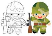 Fotografie Kreslená postava - voják