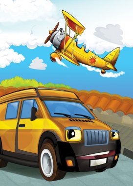 The car and the plane