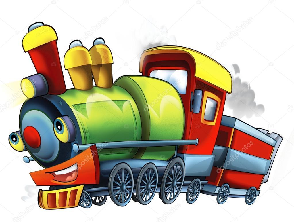 Train vapeur dessin anim photographie illustrator hft 72643369 - Train en dessin ...