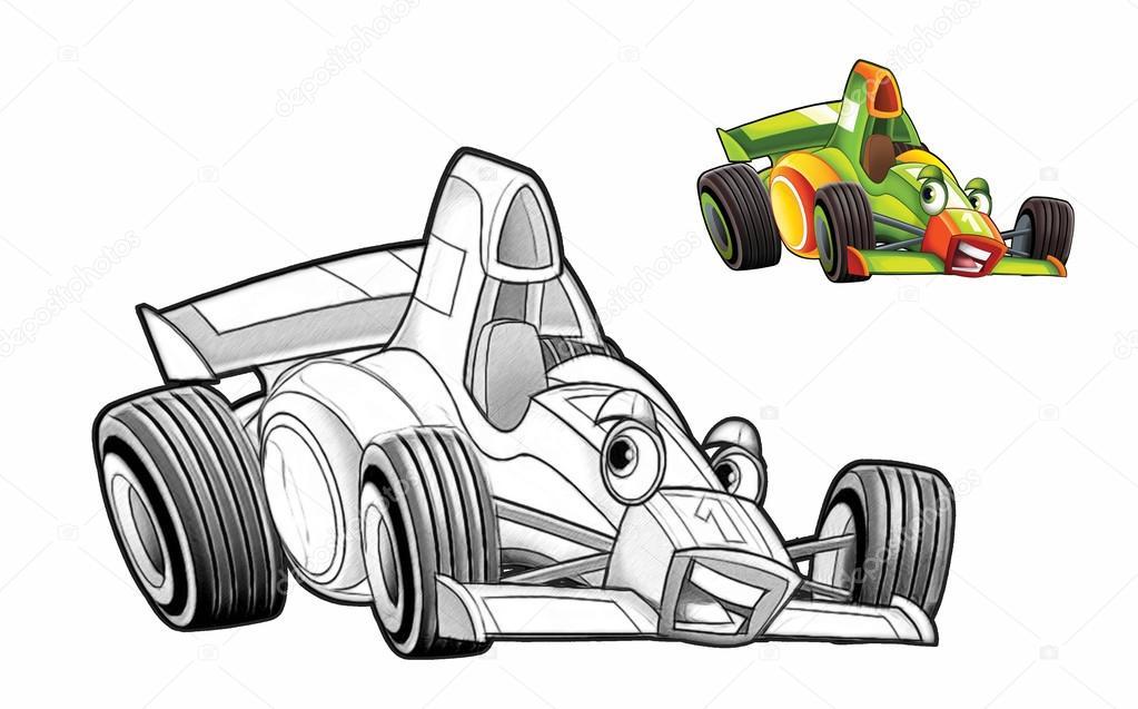 Boyama Sayfası Araba Stok Foto Illustratorhft 73515727