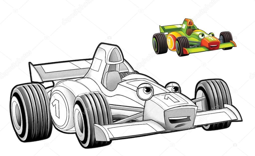 Boyama Sayfası Araba Stok Foto Illustratorhft 73609949