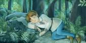 Photo Cartoon fairy tale scene