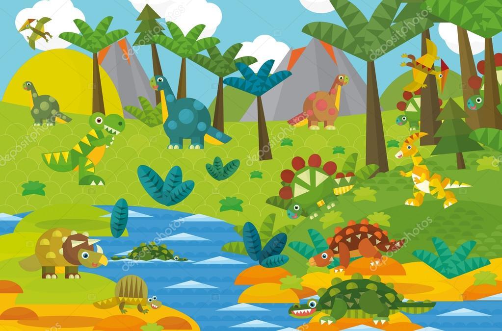 Cartoon dinosaur land