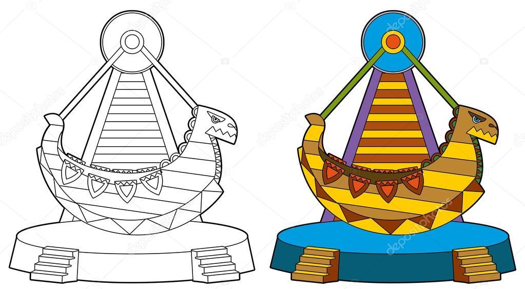 El elemento de Parque de atracciones - ilustración — Fotos de Stock ...