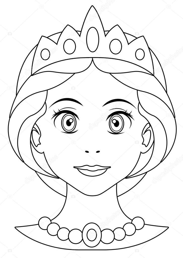 Página De Dibujos Para Colorear Princesa Fotos De Stock