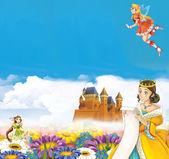 Photo Cartoon frame with princess