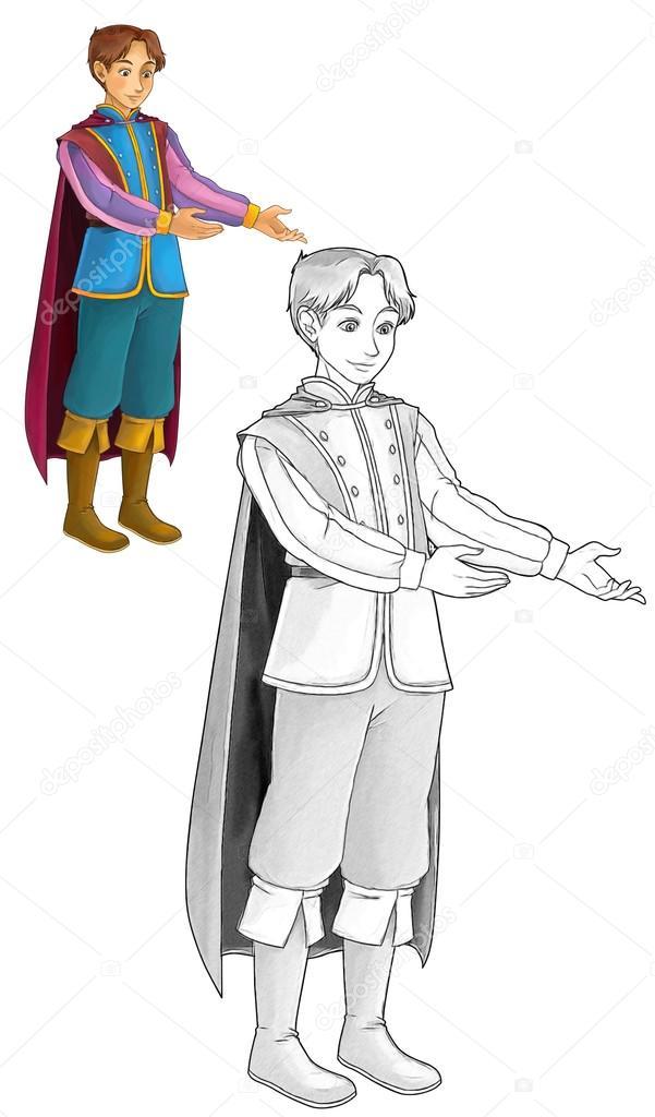 Personaje de dibujos animados de cuento de hadas - Príncipe — Foto ...