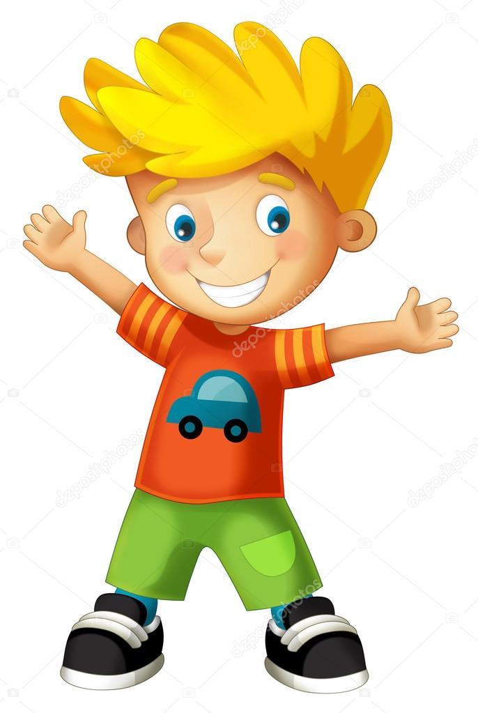 Images: cartoon happy boy   Cartoon child - happy boy ...
