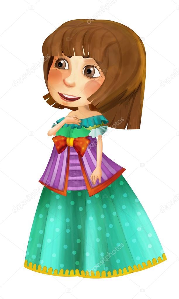 Personagem De Desenho Animado De Conto De Fadas Princesa Stock
