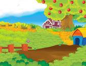 Fotografia Scena dellazienda agricola del fumetto