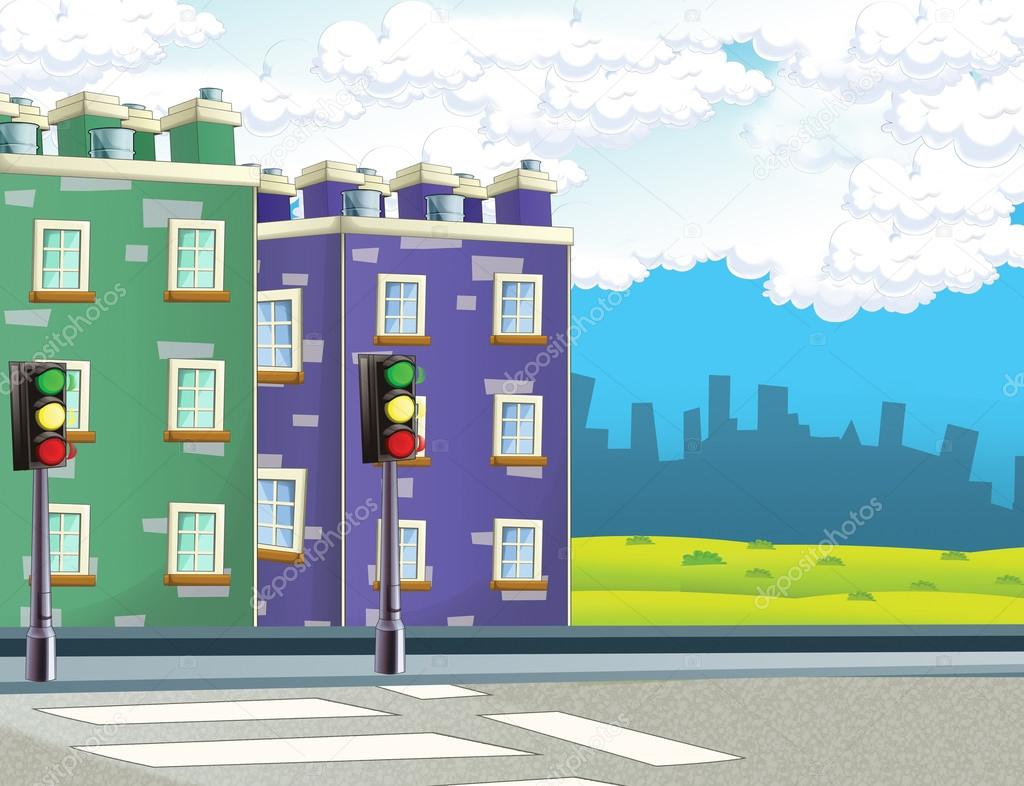Cartoon Background Of A Town Stock Photo C Illustrator Hft 89739060