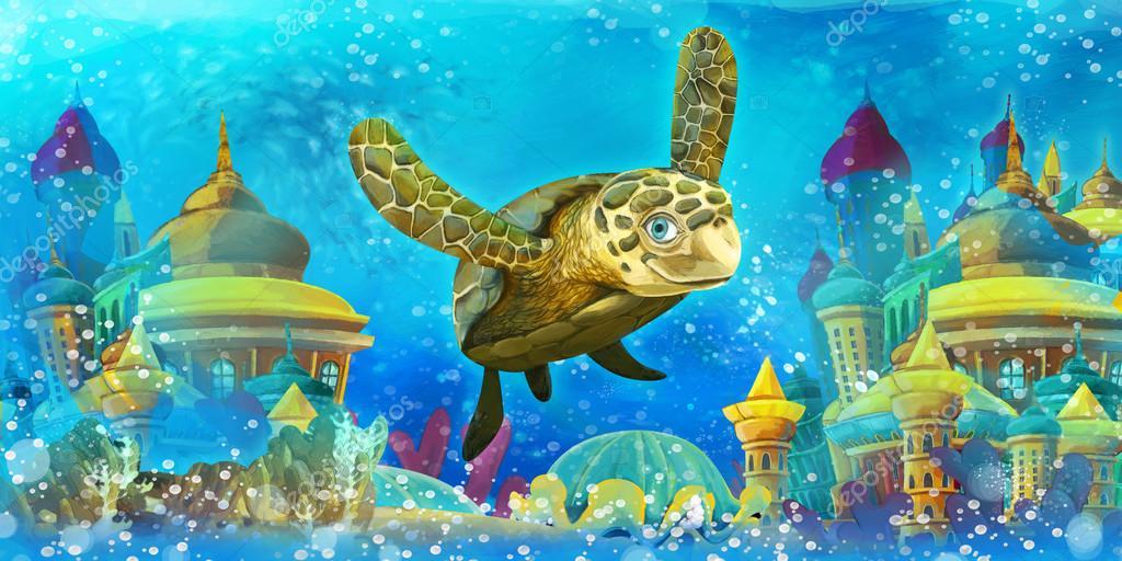Cartoon underwater animals