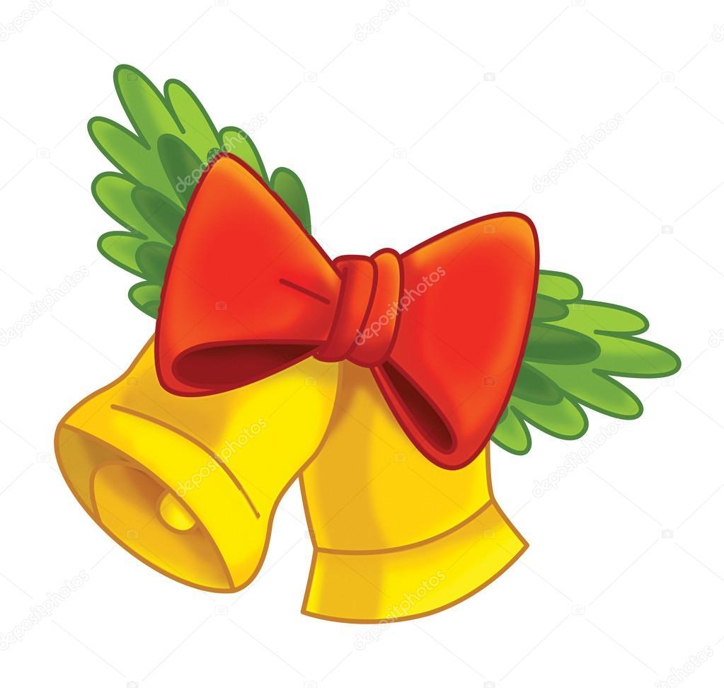 desenhos animados enfeite de natal sinos stock photo