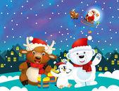A színes karácsonyi - üdvözlőlap
