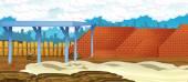 Fotografie Cartoon construction background