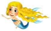 Kreslený happy mořská víla