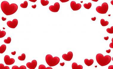 Cartoon frame with hearts