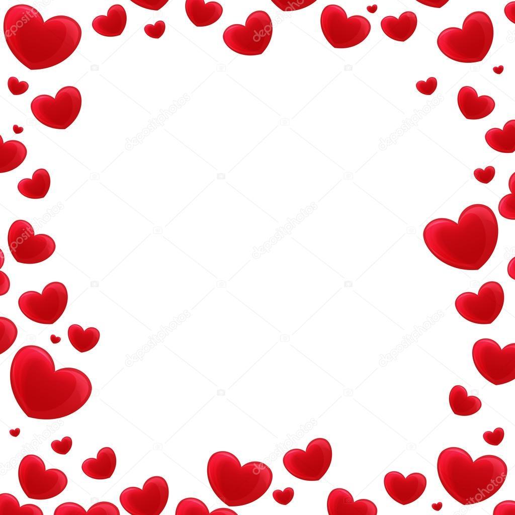 Marco de dibujos animados con corazones — Fotos de Stock ...