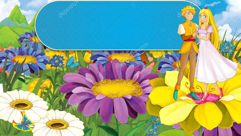 Cartoon fairy tale pair - prince and princess