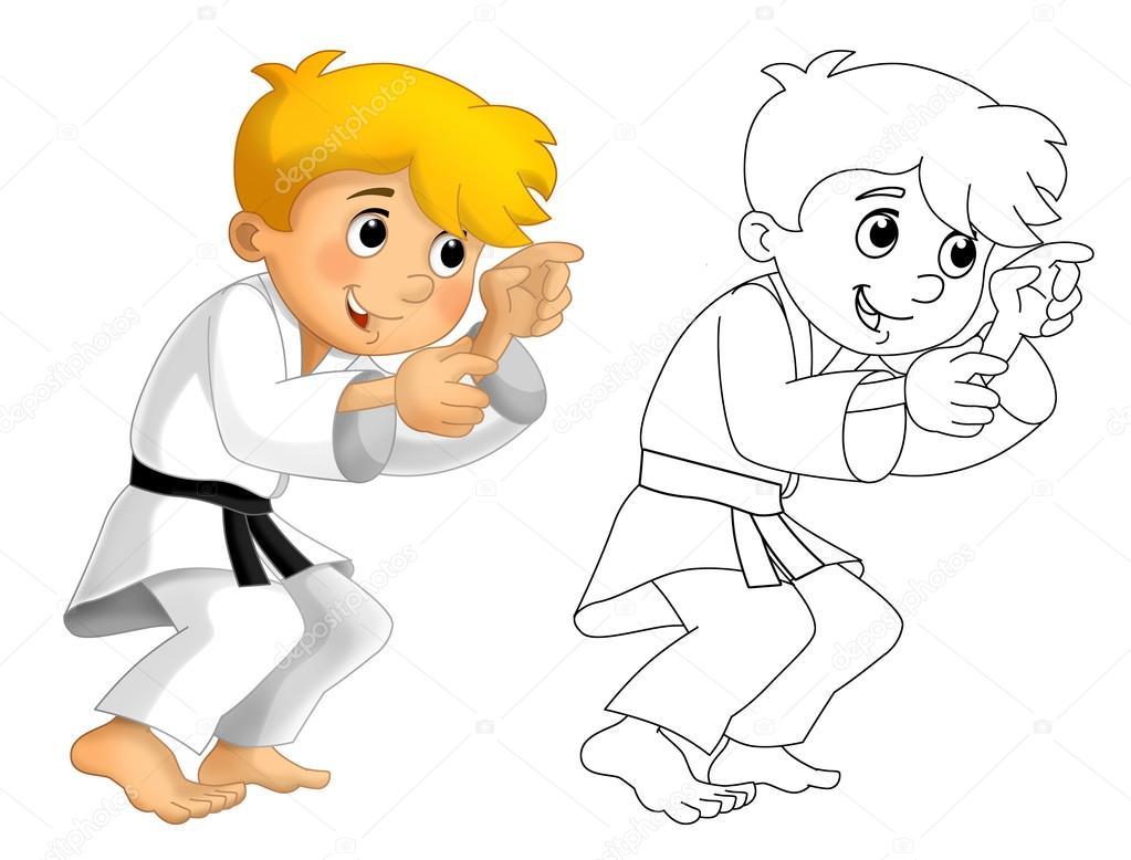 Niños de dibujos animados de formación - página para colorear ...