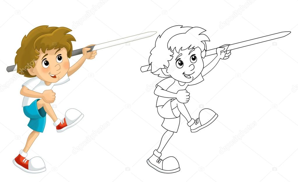 Imágenes: lanzar animadas   Dibujos animados niño entrenamiento ...