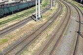 vuoto della ferrovia industriale e infrastrutture, trasporto merci e spedizione