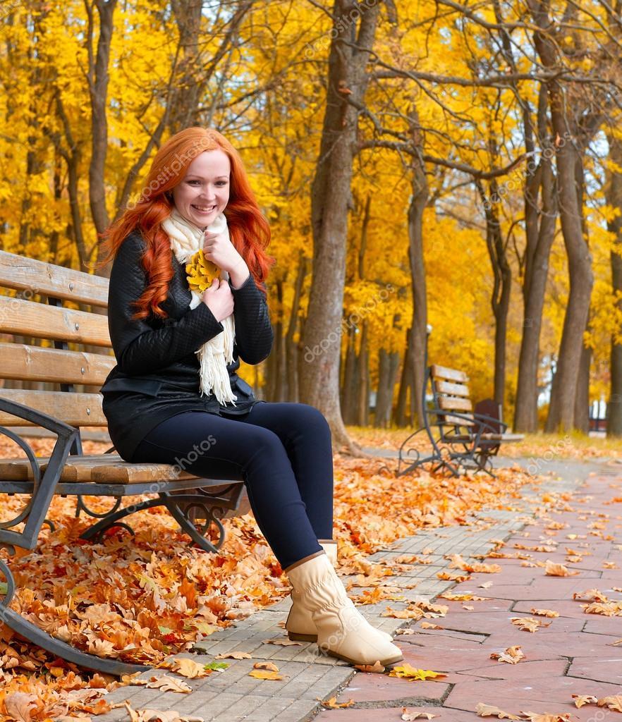 красивые фото осенью девушки