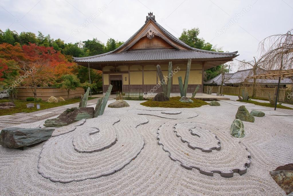Enkoji Temple With Stone Garden Kyoto Stock Photo C Blanscape
