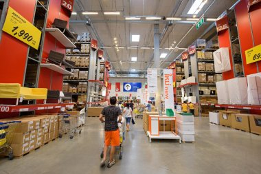 people shopping at IKEA furniture store