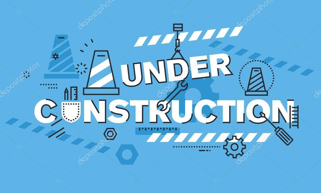 modern thin line design concept for under construction website