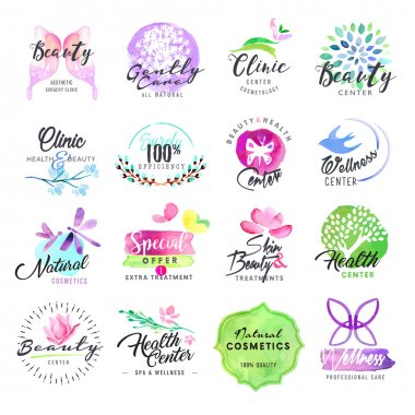 Vector illustrations for graphic and web design, for cosmetic products, natural products, skin care, makeup, beauty center, spa and wellness. clip art vector