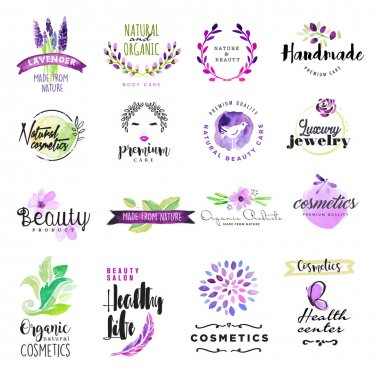 Vector illustrations for graphic and web design, for natural and organic products, healthy life, beauty care. clip art vector