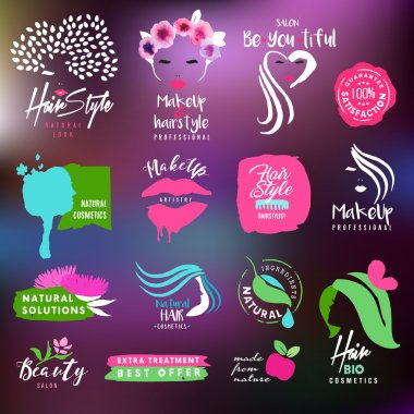 Beauty and nature signs collection