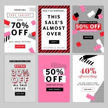 Social media banners for online shopping