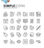 Photo Modern thin line icons of healthcare and medicine