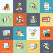 Sada ikon koncept moderních plochý design pro marketing