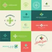 Fotografie Set of modern flat design medical and healthcare icons