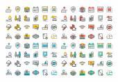 Fotografie Isoelektrisches Colorfull Icons Sammlung der Hoteldienstleistungen