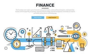 Flat line design concept for finance