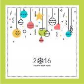 Nový rok rovné linie designu blahopřání