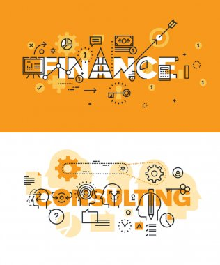 Set of modern vector illustration concepts for finance and consulting