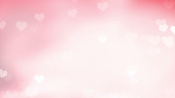 abstraktní valentine pozadí s bokeh a srdce
